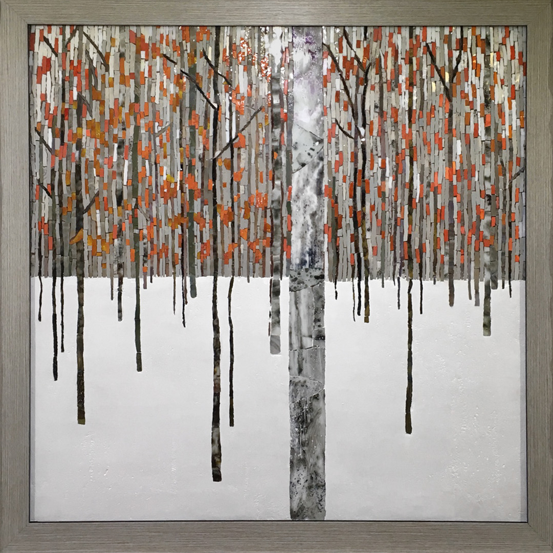 Picture from a mosaic Winter forest 2