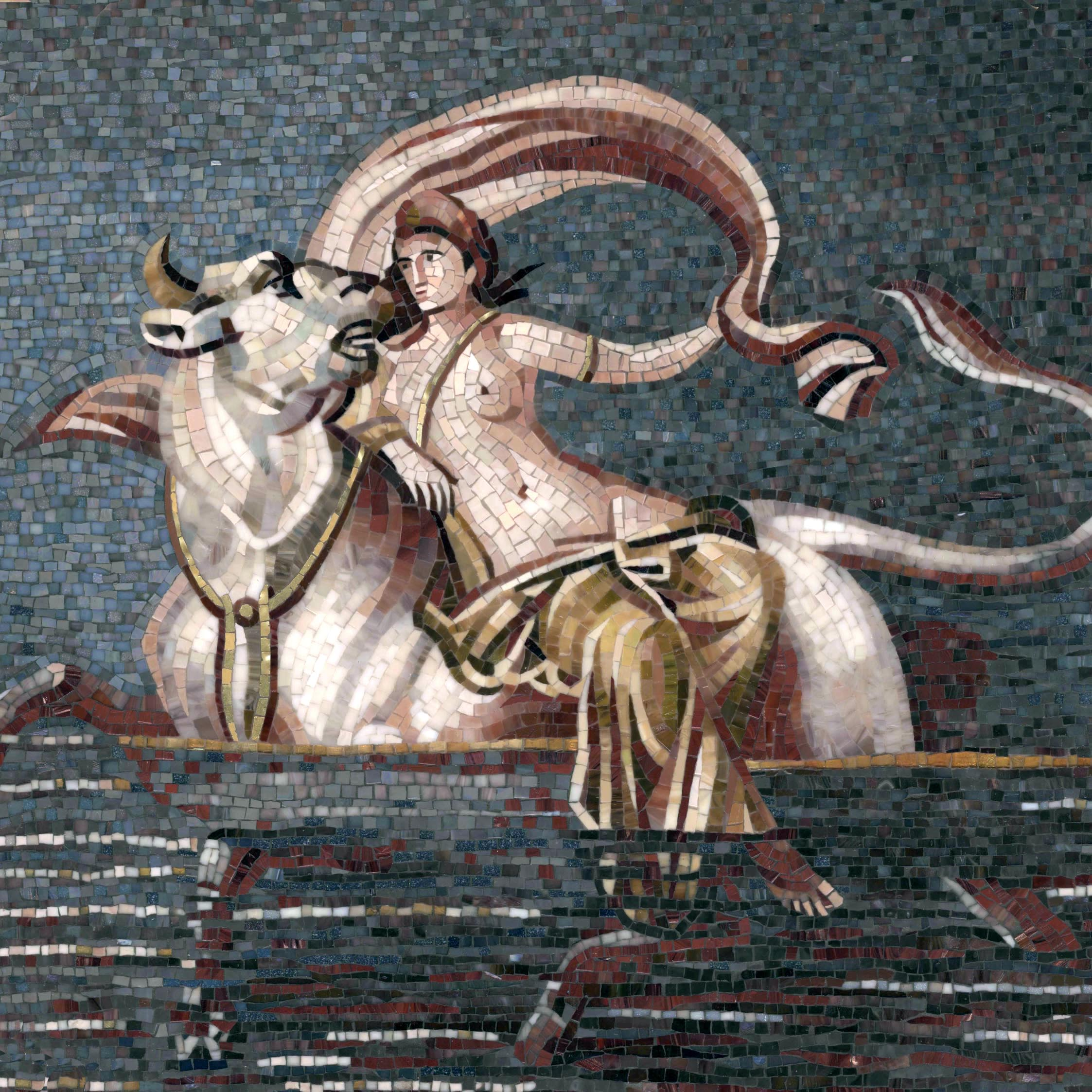 Mosaic panel The Abduction of Europe 3