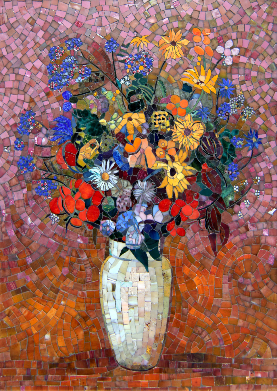 Mosaic picture Bouquet of Redon 3